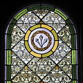 Saint Wendelin Church (Saint Henry, Ohio) - stained glass, sacristy, Crown of Thorns encircling Nails.jpg