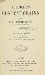 Sainte-Beuve - Portraits contemporains, t4, 1870.djvu