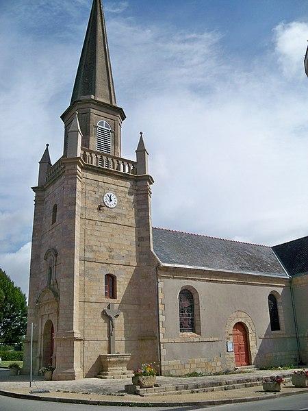 L'église paroissiale de Sainte-Hélène, dans le Morbihan