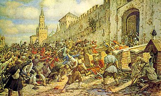 Moscow uprising of 1648 - Salt Riot on Red Square, by Ernest Lissner