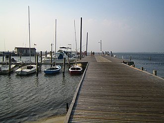 Saltaire, New York - Image: Saltaire, Fire Island dock