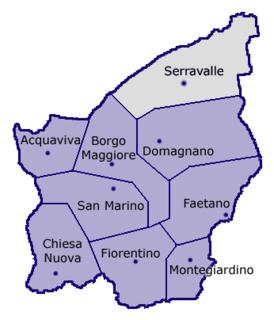 Rovereta Village in Serravalle, San Marino