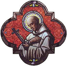 Saint Bruno, founder of the Carthusian Order to whom the church of Voiron is dedicated.