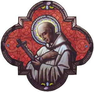 Voiron - Saint Bruno, founder of the Carthusian Order to whom the church of Voiron is dedicated.