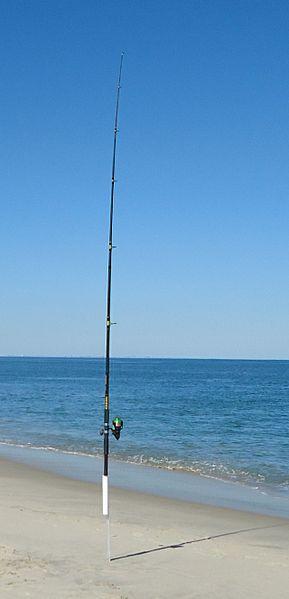 File:Sandy Hook NJ beach fisherman's pole.jpg