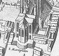 Sankt Maria ad Gradus und Römerturm an der Nordostseite des Doms 1571.jpg