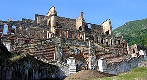 Front view of Sans-Souci Palace