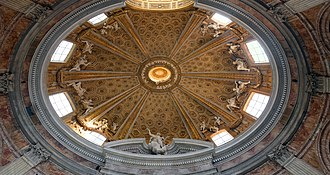 History of early modern period domes - Sant'Andrea al Quirinale in Rome.