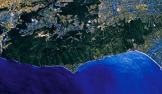 Satellitenaufnahme der Santa Monica Mountains