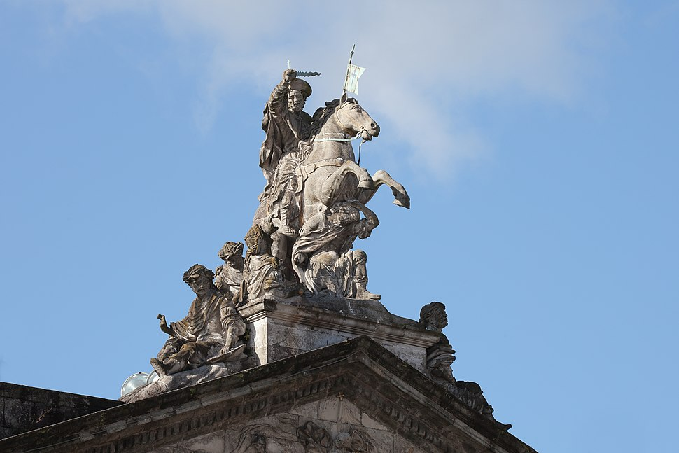 Santiago matamouros. Casa do concello de Santiago de Compostela