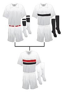 c288439d999 Origen del uniforme del São Paulo Futebol Clube. A la izquierda