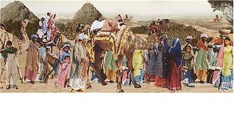 Punjabi ghagra - Saraiki Tradition women wearing ghagra west Punjab