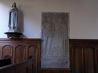 dalle funéraire de Frédéric de Lutzelbourg et de Sophie de Willsperg à Saverne