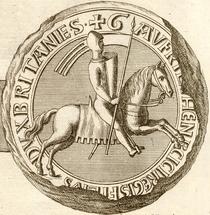 Sceau de Geoffroi II - Duc de Bretagne.png
