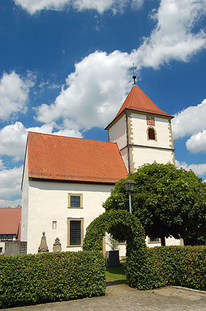 Wallhausen, Baden-Württemberg - Jakobuskirche in the hamlet of Schainbach
