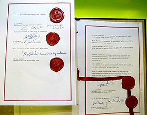 Schengen Agreement - Signatures of the Schengen Agreement on 14 June 1985