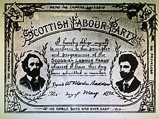 Scottish Labour Party (1888) Former left-wing political party in Scotland