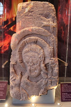 Sculpture of St Congar of Congresbury at the Museum of Somerset 4.JPG