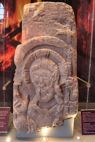 Congar of Congresbury - Image: Sculpture of St Congar of Congresbury at the Museum of Somerset 4