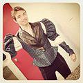 Sebastien GUEZE tenor Romeo Backstage Opera Gounod.JPG