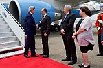Secretary Kerry Shakes Hands with Georgian Foreign Minister Janelidze at the Tbilisi International Airport in Georgia (28125252505).jpg