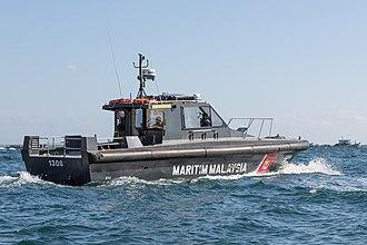 Malaysian Maritime Enforcement Agency - Ship Halilintar 8, maintaining safety during Regatta Lepa in Semporna, Sabah.