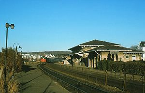 Westerly station - The southbound Senator at Westerly in 1974