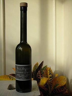 bottle of Nux Alpina Nocino