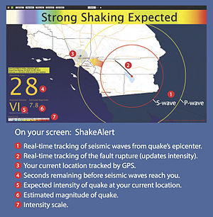 Earthquake warning system - Image: Shake Alert