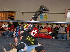 Stigma (wrestler) - Shane Storm performing an Air Raid Crash on Jagged