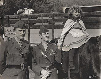 The Little Colonel (1935 film) - Shirley Temple with U.S. Marines on the set of The Little Colonel (1935)