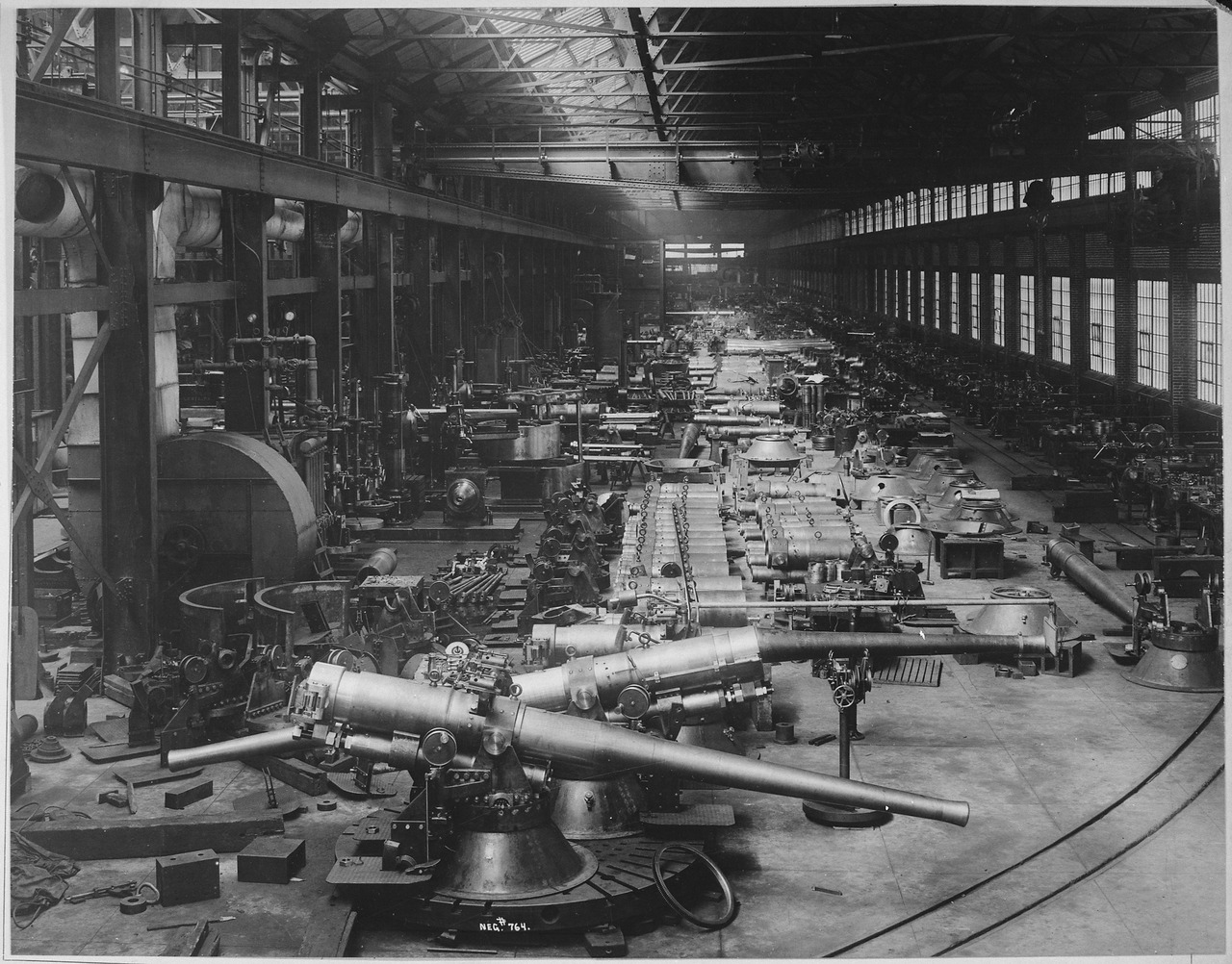 File Shop Number 2 Annex 6 Inch Guns With Their Mounts In
