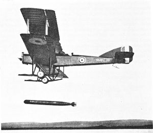 Short Shirl - N111, the second Shirl, drops a torpedo at Dunbar, UK in July 1918