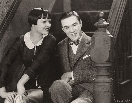 Louise Brooks en Ford Sterling in de stomme film The Show Off (1926)