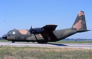 Side view of Lockheed AC-130A 54-1626 at National Museum of the United States Air Force c2008