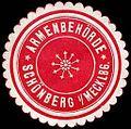 Siegelmarke Armenbehörde - Schönberg in Mecklenburg W0226534.jpg