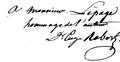 Signature du géologue et maire de Meudon Eugène Robert.png