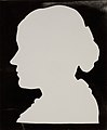 Silhouette of Fredrika Charlotte Tengström, 19 years old, 1827 (or 1828), Society of Swedish Literature in Finland, Runebergbibliotekets bildsamling, slsa1160 586.jpg