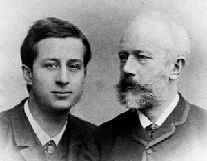 Alexander Siloti - Siloti (left) with Tchaikovsky(right).