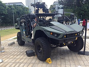 Singapore Army Mark 2 Light Strike Vehicle on display at the National Museum of Singapore - 20140223.jpg