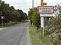 Siouville-Hague (Manche) city limit sign.jpg