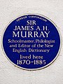 Sir James A. H. Murray schoolmaster philologist and editor of the New English Dictionary lived here 1870-1885.jpg