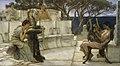 Sir Lawrence Alma-Tadema, RA, OM - Sappho and Alcaeus - Walters 37159.jpg