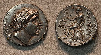"Ionians - The Seleucid king Antiochos (""Aṃtiyako Yona Rājā"" (""The Yona king Antiochos"")) is named as a recipient of Ashoka's medical treatments, together with his Hellenistic neighbours, in the Edicts of Ashoka (circa 250 BCE)."
