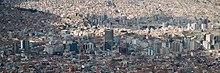 Vista panoramica de la ciudad de La Paz que junto con El Alto forma el área metropolitana más poblada del país con cerca de 1.6 millones de habitantes