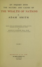Inquiry into the nature and causes of the wealth of nations, 1922