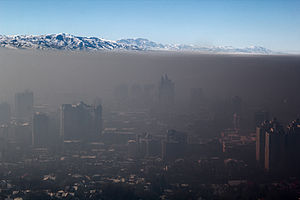 Smog over Almaty