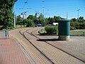 Smyčka Černokostelecká, sjezdová výhybka.jpg