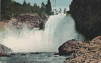 Seattle, Lake Shore and Eastern Railway - Image: Snoqualmie Falls Postcard Circa 1910