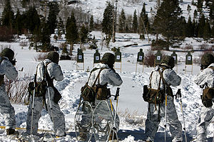 Mountain Warfare Training Center - Marines conduct cold weather live fire small arms range